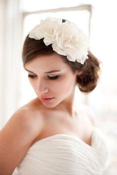 Silk Flower Headband, Floral Headpiece, Bridal Fascinator - Adeline  MADE TO ORDER- Style 2313