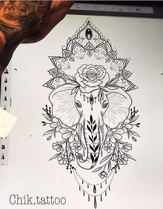 Artists have been working hard to create new tattoos and add extra awesom. Time Tattoos, Leg Tattoos, Flower Tattoos, Arm Tattoo, Body Art Tattoos, Tattoo Drawings, Small Tattoos, Yakuza Tattoo, Tatoos