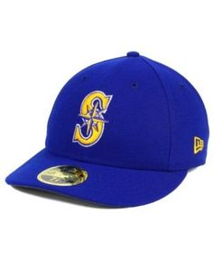 New Era Seattle Mariners Low Profile Ac Performance 59FIFTY Cap - Blue 7 5/8