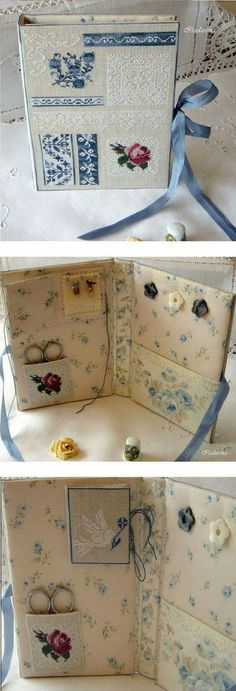 Like this idea for needle book or mini sewing kit. Small Sewing Projects, Sewing Hacks, Sewing Crafts, Sewing Kits, Sewing Case, Needle Book, Needle Case, Cross Stitch Finishing, Sewing Accessories