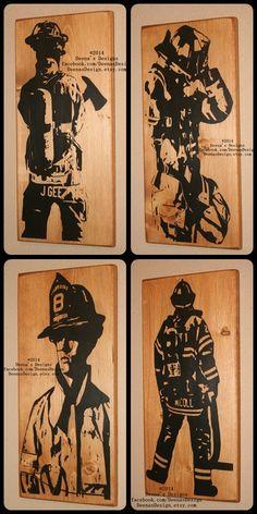 Bunker Gear Sign Turnout Gear Firefighter Decor by DeenasDesign