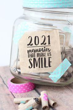 Free printable 2021 memory jar label Graduation Party Centerpieces, Graduation Decorations, Gratitude Jar, Happy Jar, Making Memories, Memories Jar, Travel Memories, Printable Labels, Free Printable