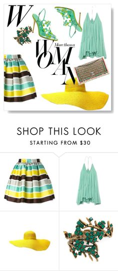 """10-07-16  16:01"" by oligs022 ❤ liked on Polyvore featuring MSGM, Chloé, Chanel, Oscar de la Renta and Sarah Jessica Parker"