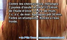 A natural treatment of the grandmother for dry and brittle hair. Diy Beauty, Beauty Hacks, Brittle Hair, Relaxed Hair, Natural Treatments, Ombre Hair, Natural Hair Styles, Health, Voici
