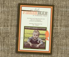 Gone Fishing - Little Fisherman - Printable Party Invitation