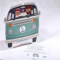 Faire-part Mariage - ref 49519 Collection Faire-part Mariage Duo 2016 www.fairepartselection.fr  Tendance, hipster, voyage, couple, combi, vintage, vert, personnalise