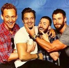 Tom Hiddleston, Sebastian ⭐️ Stan, Chris Evans and Chris Hemsworth #ad