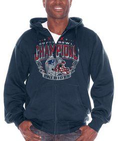 Look at this #zulilyfind! New England Patriots Super Bowl Champs Zip-Up Hoodie - Men #zulilyfinds