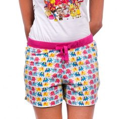ELEPHANT PATTERN WHITE BOXER SHORT