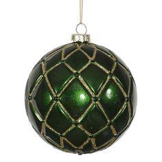 Vickerman Candy Glitter Net Ball Ornament & Reviews | Wayfair