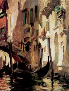 A Venetian Scene, Oil On Panel by Frederick Arthur Bridgman (1847-1928, United States)