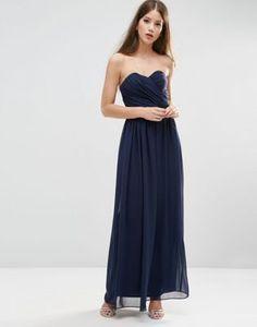 ASOS WEDDING Bandeau Maxi Dress