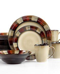 Gourmet Basics By Mikasa Horizon Red 16-Piece Set - Casual Dinnerware - Dining & Entertaining - Macy's