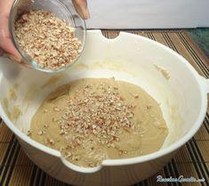 Receta de Galletas de nueces y miel - Paso 6 Milk Shakes, Bon Appetit, Hummus, Oatmeal, Grains, Breakfast, Aurora, Ethnic Recipes, Food