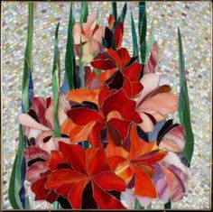 """Glass mosaic. """"Bouquet"""". Nina Udovic - this links to her site and WOW is all I can say!"""