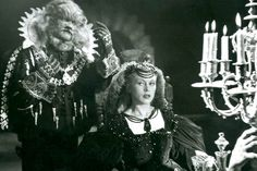 La Belle et la Bete (1946) ~KJ~  My favorite of all the Beauty and The Beast movies. The Arm wall sconces, magical dinning table and fireplace are so memorable