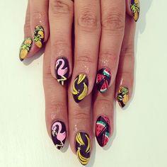 Pineapple, flamingos, bananas & watermelon nails?! GIVE ME!
