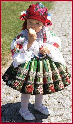 Little Girl in Lowicz Costume from Lodz