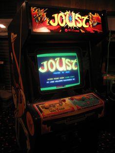 Joust Classic Williams Atari Arcade Marquee Game Room Wall Decor Metal Tin Sign