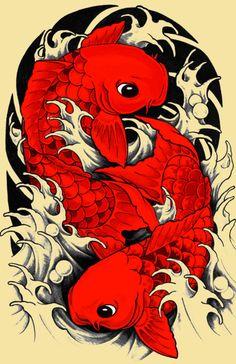 Koi / carp / japanese Art Print by Tshirtsz