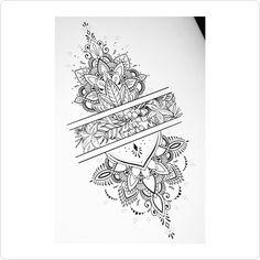 32 Ideas For Mandala Tattoo Designs Sleeve Inspiration Wrist Tattoos, Foot Tattoos, Sexy Tattoos, Body Art Tattoos, Small Tattoos, Sleeve Tattoos, Tattoos For Women, Hindu Tattoos, Gorgeous Tattoos
