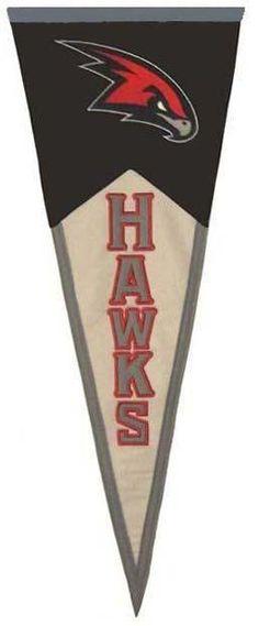 """$22 32"""" Hawks Vintage Pennant"""