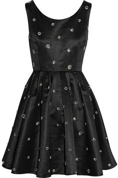 Kate Moss for Topshop Crystal-embellished satin mini dress ($260)