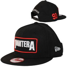 2c710dfd17e Officially licensed Pantera New Era hat featuring the band s logo  embroidered on the front of the hat. The New Era logo is embroidered on the  side of the ...