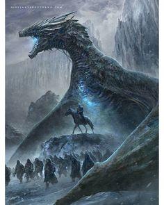 """2,357 Likes, 24 Comments - Dibujante nocturno (@dibujantenocturno) on Instagram: """"El rey de la noche  Nigth King PRINTS: link in my BIO  Special pack Daenerys&Nigthking!…"""""""