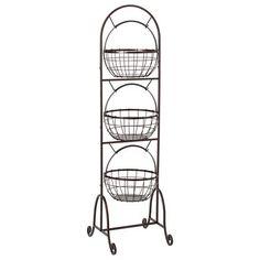 3 Tier Wire Market Basket