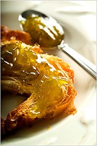 Green tomato and lemon marmalade on a croissant. Photo: Francesco Tonelli for The New York Times