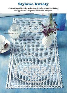 """Photo from album """"Sabrina Robotki on Yandex. Crochet Table Runner, Crochet Tablecloth, Crochet Doilies, Doily Patterns, Crochet Patterns, Filet Crochet Charts, Irish Lace, Chrochet, Crochet Baby"""