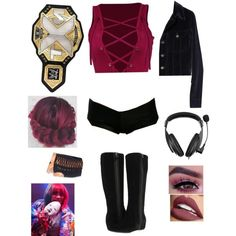 Wrestling Outfits, Wwe Outfits, Halloween Ideas, Halloween Costumes, Wwe Divas, Fan Fiction, Girl Clothing, Baddie, Costume Ideas