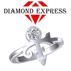 "1.00 Ct Round Cut PRINCE Singer Artist Symbol Ring ""Mother\'s Day Gift"". Starting at $1"