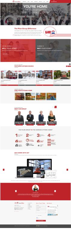 Fantastic new design for the Pilon Group in Ottawa, ON. Uses the WordPress CMS and MRP IDX feed. The power of 8 is greater than Area Of Expertise, Real Estate Site, Greater Than, Ottawa, Wordpress, Group, Things To Sell, Design