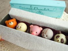 goncharoff animal chocolat. I couldn't even eat them!  They're too cute!