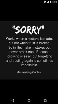 On sorry