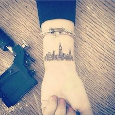 Imagen de tattoo, city, and new york