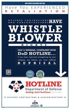 DoD Whistleblower Rights-MainImage Regulatory Compliance, Bond Paper, Labor Law, Poster Prints, Posters, Poster Making, Believe In You, Safety, Security Guard