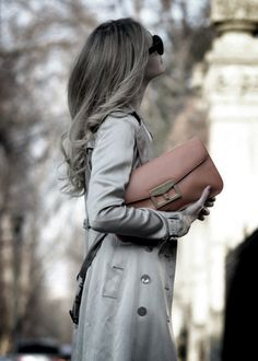 Trench and clutch.