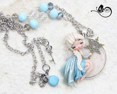 collana elsa / disney fimo / zingara creativa / di ZingaraCreativa