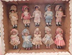 Store Display 10 Tiny 3 1/2 in High Dolls | eBay