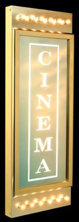 ©CinemaShop Home Theater Decor - Classic Chaselight Cinema Identity Sign