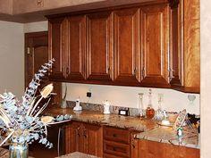 Solid cherry Crestwood kitchen cabinets