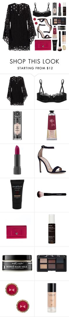 """Chaos 115"" by sophiehackett ❤ liked on Polyvore featuring Nicholas, Dolce&Gabbana, Kat Von D, L'Occitane, Bite, Manolo Blahnik, Smashbox, Longchamp, Korres and Earth's Nectar"