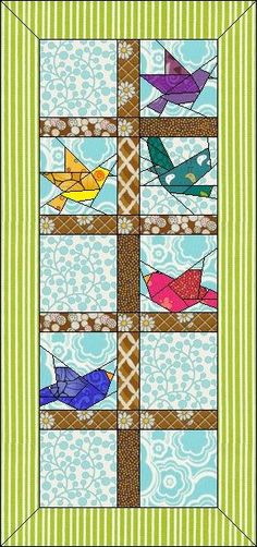 This quilt includes:   · 3 New Blocks   · 1 Mitered Borders   · 26 new fabrics from various manufacturers.   · The overall s