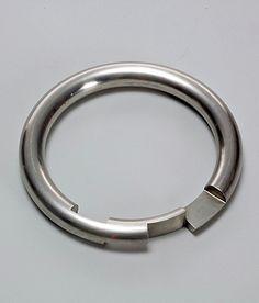 GIJS BAKKER, UNTITLED 117: stainless steel bracelet, 1974.