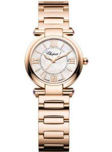 Chopard Imperiale Mother of Pearl Dial 18 kt Rose Gold Ladies Watch 384238-5002