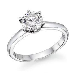 1/2 ctw. Round Diamond Solitaire Engagement Ring in 14k White Gold.  List Price: $2,798.00  Savings: $779.00