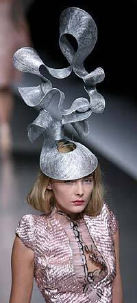 """""""For god's sake, keep this away from Princess Beatrice - she'd LIKE the damn thing!""""  Comment not mine, but I like it - and I actually like this hat - so sculptural."""
